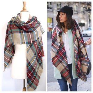 Zara Blanket Large Tartan Shawl Scarf